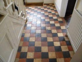 Quarry Tiled Hallway Before