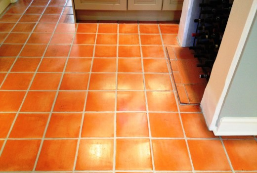 Terracotta Tiled Floor Thame After Cleaning and Sealing