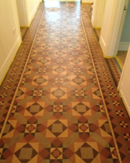 Victorian Tiled Floor Oxford Before Cleaning