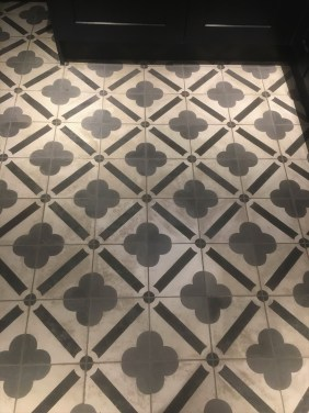 Encaustic Cement Tiles Before Cleaning in Chipping Norton