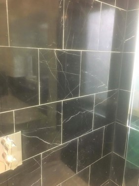 Black Negro Marquina Marble Shower Tiles After Polishing Thame
