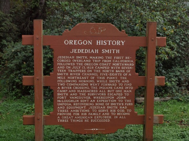 Oregon History Sign: Jedediah Smith