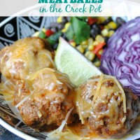 Enchilada Meatballs in the Crock Pot