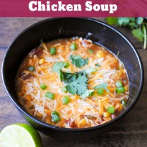 Lime Enchilada Chicken Soup