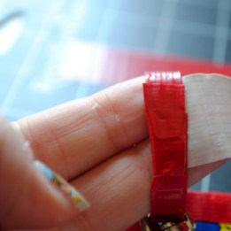 Step 16: Tape ends of strap together and wrap with small piece of tape to secure