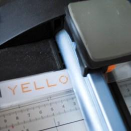 Step 3: Cut laminated labels