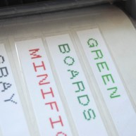Step 4: Make labels into stickers or use glue dots to adhere