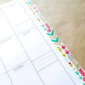 Step 7: Place washi tape on front page. You want it to hang off about half way.