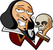 Shakespeare with skull