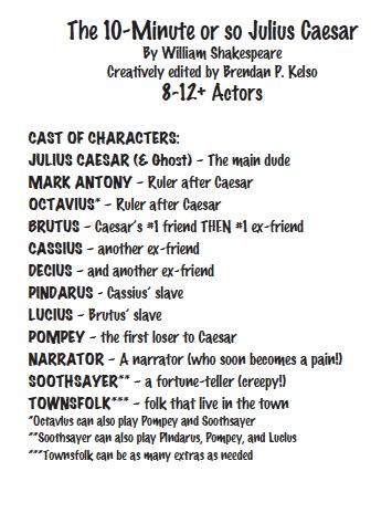Julius Caesar script sample