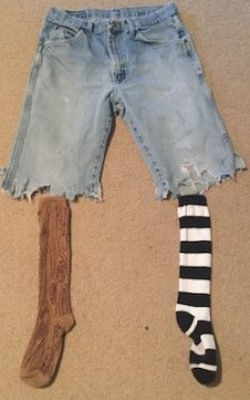 Wooden leg sock set