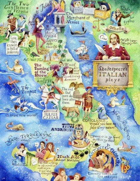 shakespeare's italian plays poster