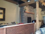 Kell's Brew Pub fireplace almost finished