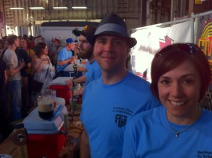Kevin and Kim from PortlandBrewpubs.com serving at PCTBB 2012
