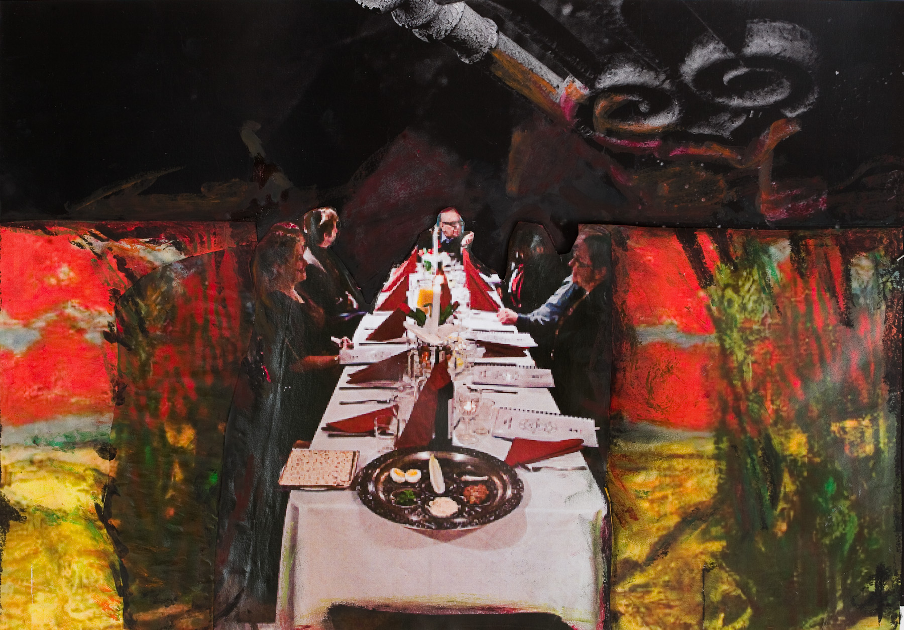 Seder in Warsaw, by Joanna Auron-Gorska