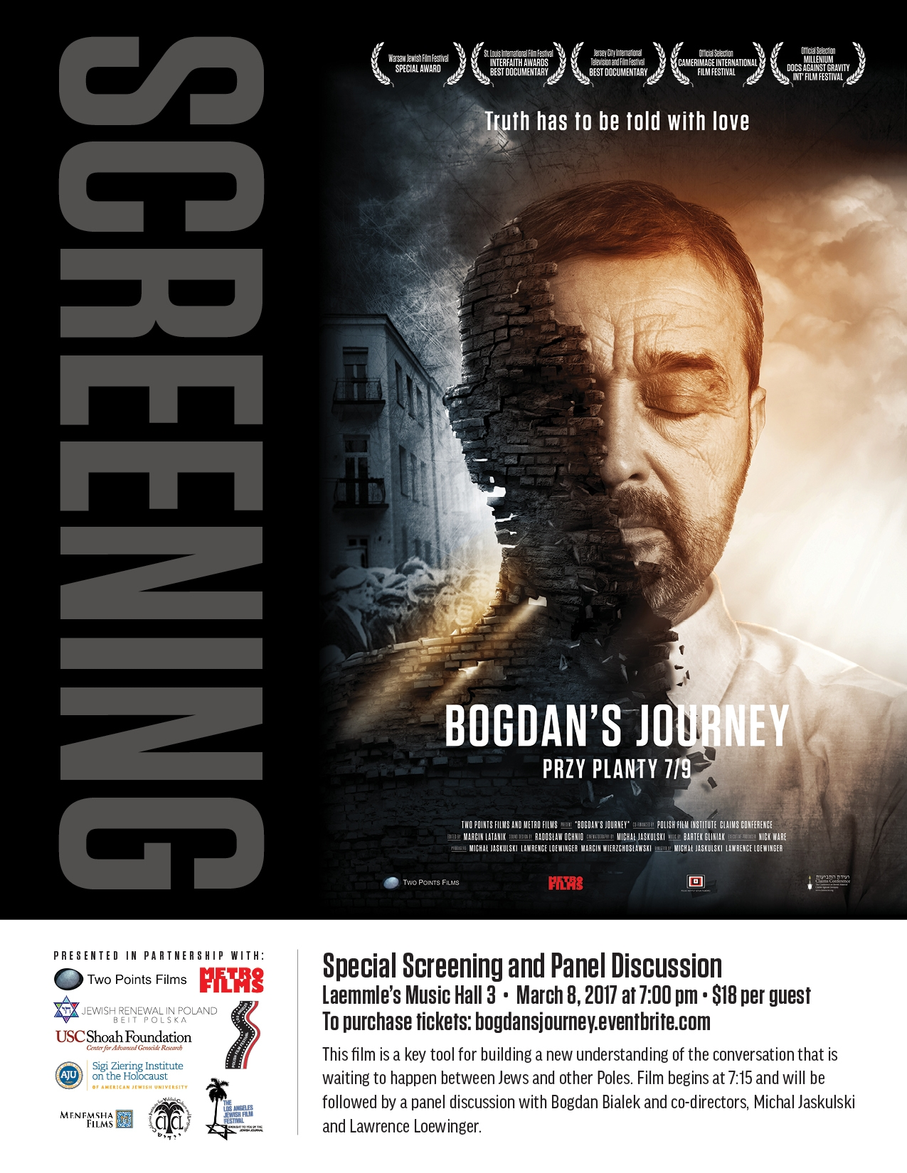 Bogdan's Journey Film Screening ad