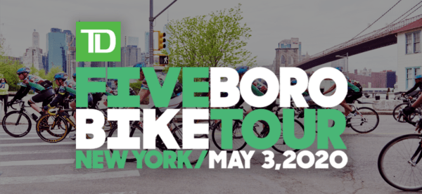 Registration for the 2020 TD Five Boro Bike Tour Opens Wednesday, January 8