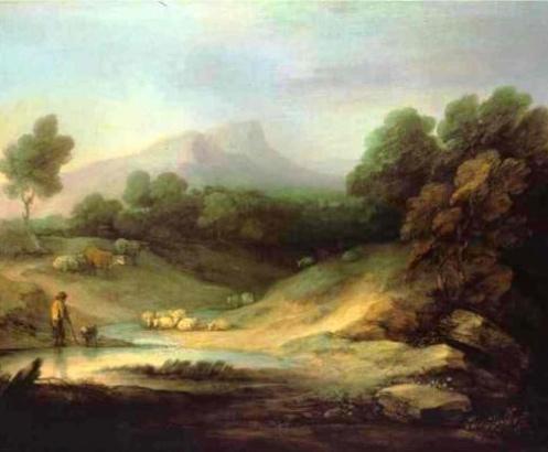Thomas Gainsborough, 1783. Rococo Style. Oil on Canvas