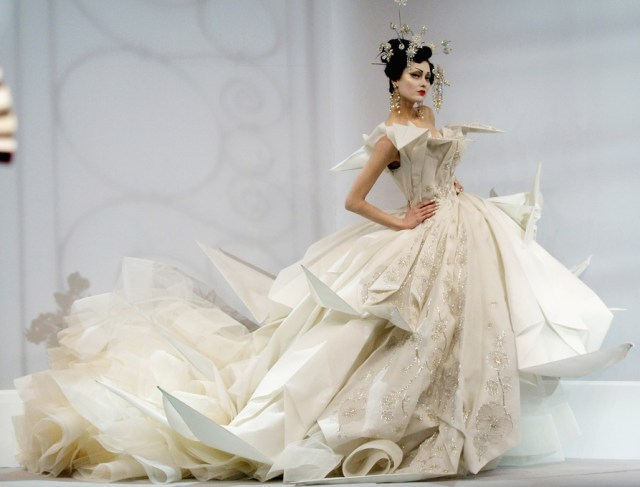 Christian Dior Spring 2007 Haute Couture, Designed by John Galliano, Origami inspired couture gown (Source: stylesaint.com)