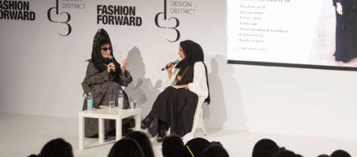 Fashion Forward Talks - Picture taken from fashionforward.ae
