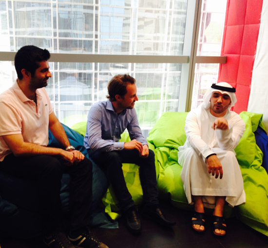 Khalid AlAmeri with Careem co-founders (from left to middle): Mudassir Sheikha and Magnus Olsson