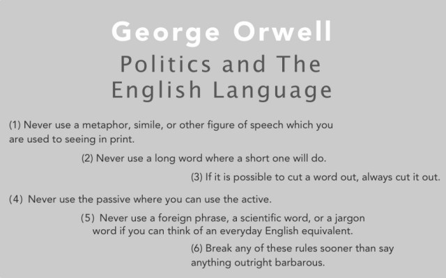 Topic For English Essay In Pop Culture George Orwell Is Known For The Creation Of The Concept Of  Big Brother Which Many People Now Relate To The Reality Tv Show Bullying Essay Thesis also High School Essay Topics Politics And The English Language An Essay By Orwell  Sail Magazine How To Write An Essay Thesis
