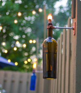 DIY Wine Bottle Oil Lamps
