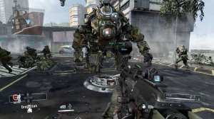 A good screenshot of the robot's scale to the player.