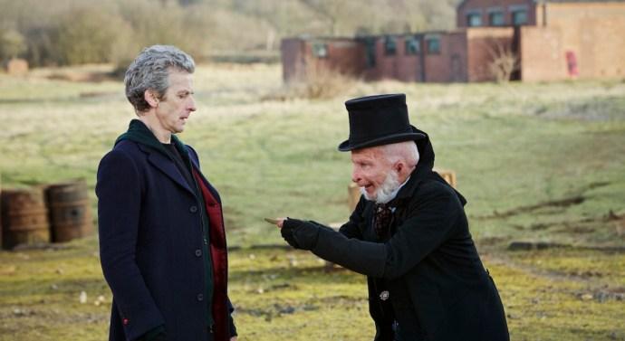 Peter Capaldi as the Doctor and Paul Kaye as Prentis