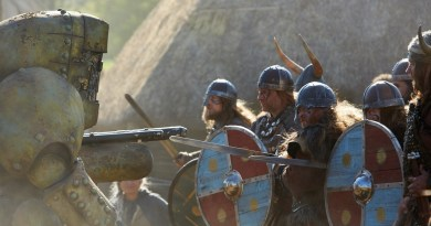 Picture shows: the Mire with Vikings