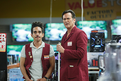 Bruce Campbell (as Ash), Ray Santiago (as Pablo)