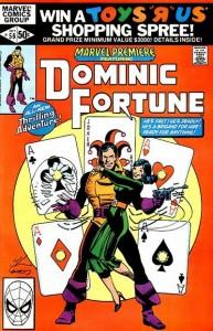 """DominicFortune"" in MARVEL PREMIERE #56, art by Howard Chaykin & Terry Austin. Licensed under Fair use via Wikipedia"
