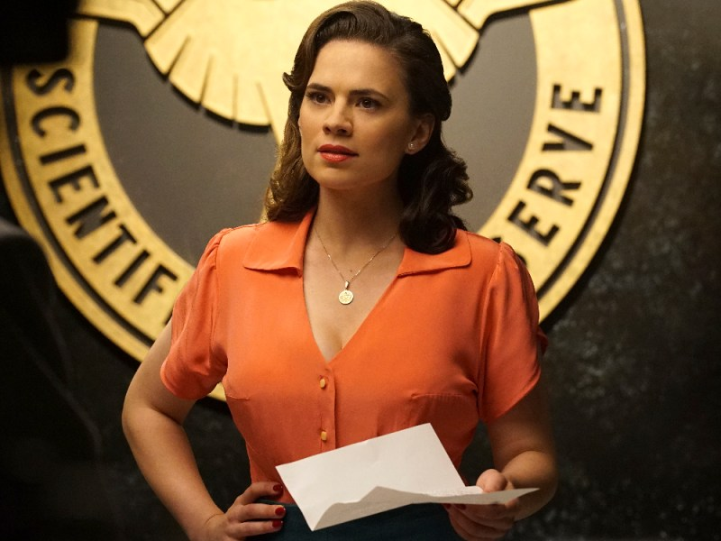 """MARVEL'S AGENT CARTER - """"Smoke and Mirrors"""" - Agent Carter and the SSR learn there's more than just a pretty face behind Hollywood star Whitney Frost, Peggy's most dangerous foe yet, on """"Marvel's Agent Carter,"""" TUESDAY, FEBRUARY 2 (9:00-10:00 p.m. EST) on the ABC Television Network. (ABC/Richard Cartwright) HAYLEY ATWELL"""