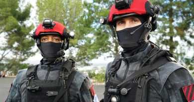 """COLONY -- """"Blindspot"""" Episode 104 -- Pictured: The Red Hats -- (Photo by: Danny Feld/USA Network)"""
