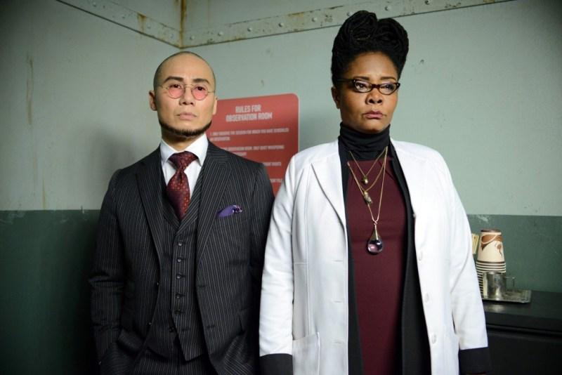 GOTHAM: L-R: Guest stars BD Wong and Tonya Pinkins Photo Credit: FOX.