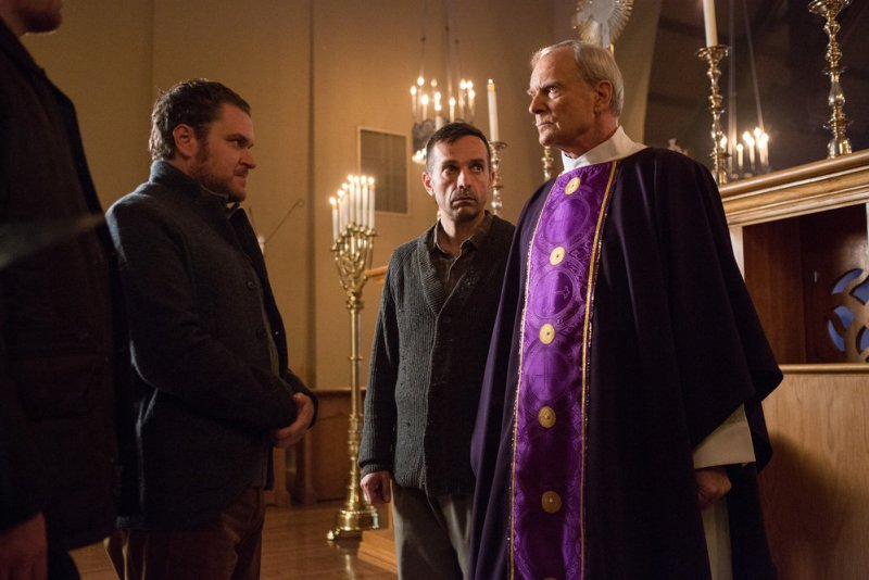 """GRIMM -- """"Key Move"""" Episode 511 -- Pictured: Wolf Muser as Father Eickholt -- (Photo by: Scott Green/NBC)"""