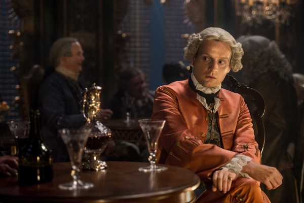 Prince Charles Stuart (Andrew Gower), not living up to Jamie and Murtagh's expectations.