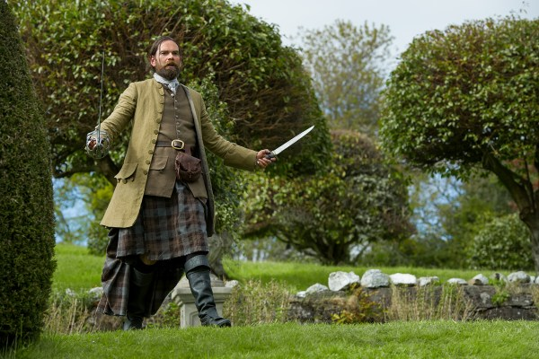 Murtagh (Duncan Lacroix) threatening to cut private parts off of some Frenchmen as a way to let off steam.