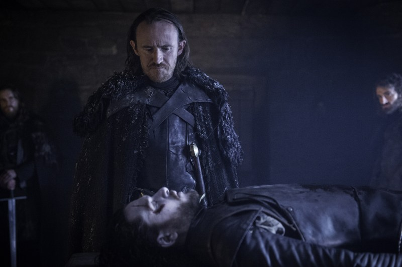 Pictured: Ben Crompton as Dolorous Edd and Kit Harington as Jon Snow (Helen Sloan/HBO)
