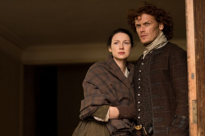 I mean, she had to leave that, sooo how would you feel, Brianna? (Caitriona Balfe as Claire Fraser Randall and Sam Heughan as Jamie Fraser.)