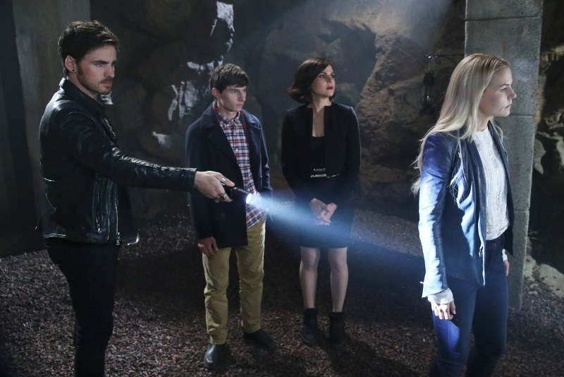 Another thing like Indiana Jones, a lovely crypt. (ABC/Jack Rowand) COLIN O'DONOGHUE, JARED S. GILMORE, LANA PARRILLA, JENNIFER MORRISON