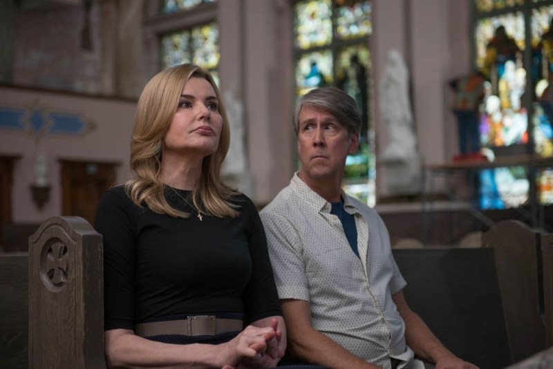Angela and Henry can only wait during Casey's interview at St. Anthony's.