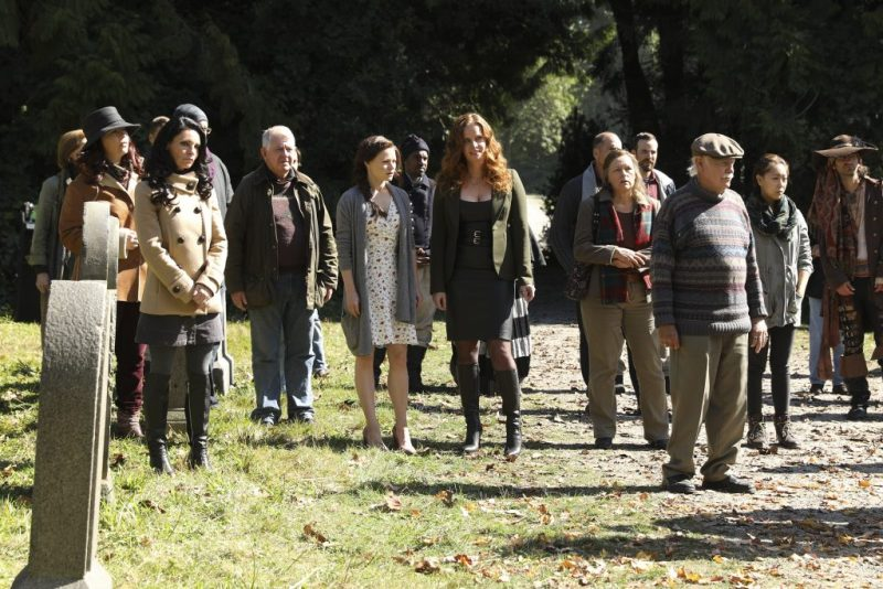 It's so much easier to destroy the town when they're all in one place. (ABC/Jack Rowand) EMILIE DE RAVIN, REBECCA MADER