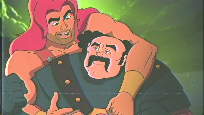 """SON OF ZORN: L-R: Zorn (voiced by Jason Sudeikis) and Headbutt Man (voiced by guest star Rob Riggle) in the """"Return of the Drinking Buddy"""" episode of SON OF ZORN airing Sunday, Dec. 4 (8:30-9:00 PM ET/PT) on FOX. ©2016 Fox Broadcasting Co. Cr: FOX"""