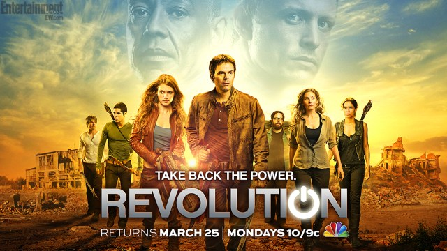 Revolution 25th March 2013 NBC poster - Elizabeth Mitchell, Billy Burke and Tracy Spiridakos