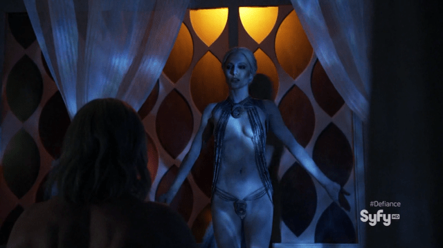 Jaime Murray as Stahma Tarr nude in Defiance