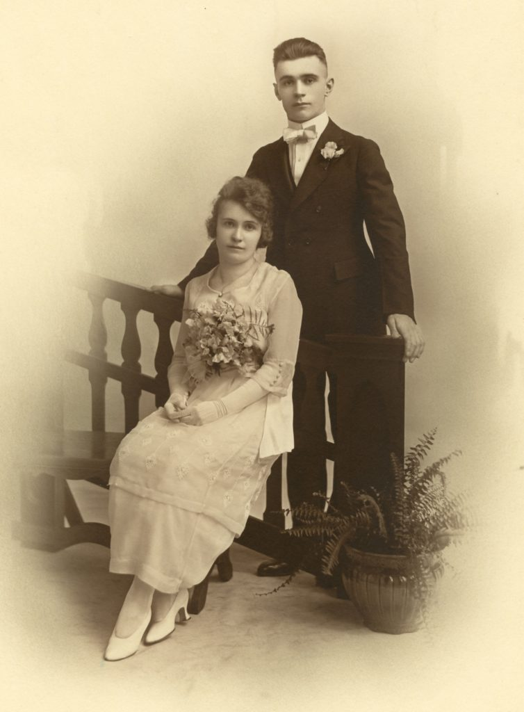 Couple in formal dress