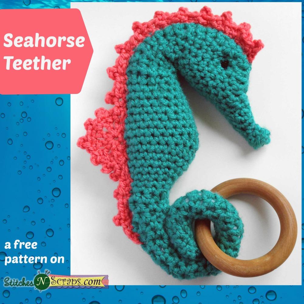 Amigurumi Seahorse Crochet Pattern - One Dog Woof | 1000x1000