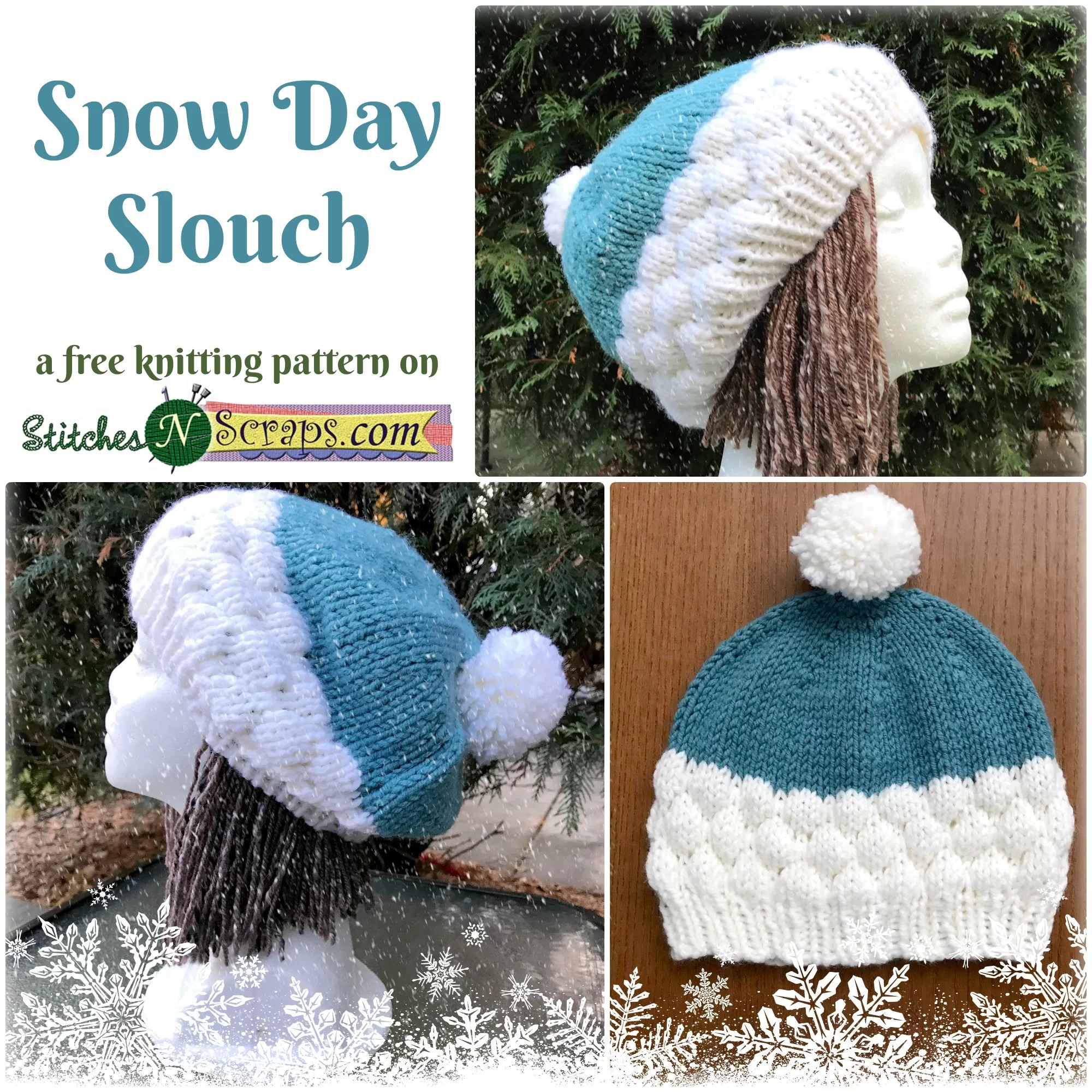 0cdedea5ef3403 Free Pattern - Snow Day Slouch | Stitches n Scraps