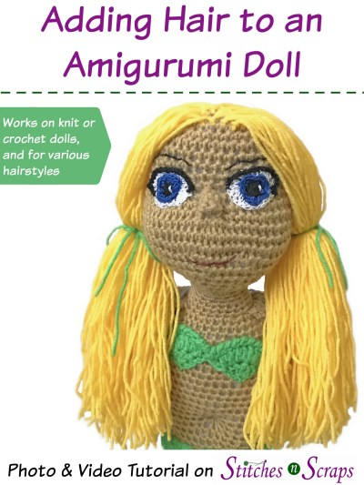 Hair Tutorial with Wig Cap for Crochet Doll BELLA with Step by ... | 533x400
